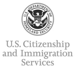 US Citizensip and Immigration Service LOGO